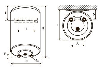 Размеры водогреватели Атлантик